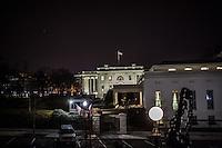 La Casa Bianca da un cortile interno