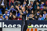 James Rodriguez of Real Madrid celebrates after scoring a goal  during the match of  La Liga between Club Deportivo Leganes and Real Madrid at Butarque Stadium  in Leganes, Spain. April 05, 2017. (ALTERPHOTOS / Rodrigo Jimenez)