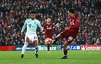 Liverpool's Trent Alexander-Arnold shoots for goal late in the game<br /> <br /> Photographer Rich Linley/CameraSport<br /> <br /> UEFA Champions League Round of 16 First Leg - Liverpool and Bayern Munich - Tuesday 19th February 2019 - Anfield - Liverpool<br />  <br /> World Copyright © 2018 CameraSport. All rights reserved. 43 Linden Ave. Countesthorpe. Leicester. England. LE8 5PG - Tel: +44 (0) 116 277 4147 - admin@camerasport.com - www.camerasport.com