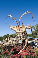 Giant Lobster statue in front of Rain Barrel Artists' Village, Islamorada, Florida Keys