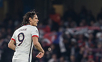 Edinson Cavani of Paris Saint-Germain during the UEFA Champions League Round of 16 2nd leg match between Chelsea and PSG at Stamford Bridge, London, England on 9 March 2016. Photo by Andy Rowland.