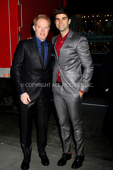 WWW.ACEPIXS.COM....April 17 2013, New York City....Jesse Tyler Ferguson and Justin Mikita arriving at the HRC Marriage for Equality USA celebration at the Calvin Klein Boutique on April 17, 2013 in New York City.....By Line: Nancy Rivera/ACE Pictures......ACE Pictures, Inc...tel: 646 769 0430..Email: info@acepixs.com..www.acepixs.com