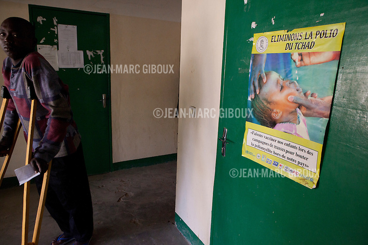 "N'Djamena, November 29, 2011: ""Centre d'appareillage et de reeducation de Kabalaye"" (Center for Equipment and rehabilitation in Kabalaye), in N'Djamena, where physically handicapped people can get free care, rehabilitation therapies and prosthesis . Two days a week are reserved for Polio patients. Chad has had the highest number of polio cases in Africa in 2010 and again in 2011. As of Dec 1rst, Chad has recorded 133 new cases of polio so far in 2011.  (photo by Jean-Marc Giboux)"