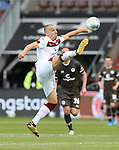 nph00001:  nph0001:  17.05.2020 --- Fussball --- Saison 2019 2020 --- 2. Fussball - Bundesliga --- 26. Spieltag: FC Sankt Pauli - 1. FC Nürnberg --- --- DFL regulations prohibit any use of photographs as image sequences and/or quasi-video - Only for editorial use ! --- <br /> <br /> Michael Frey (14, 1. FC Nürnberg ) <br /> <br /> Foto: Daniel Marr/Zink/Pool//via Kokenge/nordphoto