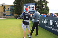 Padraig Harrington (IRL) on the 17th tee watching the scoreboard during Round 3 of the Alfred Dunhill Links Championship 2019 at St. Andrews Golf CLub, Fife, Scotland. 28/09/2019.<br /> Picture Thos Caffrey / Golffile.ie<br /> <br /> All photo usage must carry mandatory copyright credit (© Golffile | Thos Caffrey)