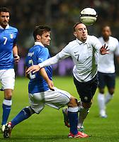 Fussball International  Freundschaftsspiel   14.11.2012 Italien - Frankreich Christian Maggio (li, Italien)  gegen Franck Ribery (Frankreich)