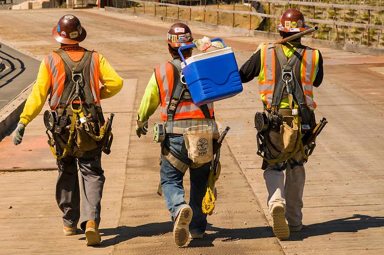 Construction workers taking a break.