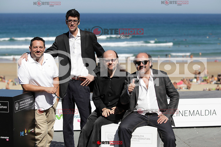"Actors Javier Botet (L), Pepon Nieto and Santiago Segura (r) posse during the presentation of ""Las brujas de Zugarramurdi"" in the 61 San Sebastian Film Festival, in San Sebastian, Spain. September 22, 2013. (ALTERPHOTOS/Victor Blanco) /NortePhoto"