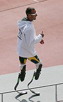 Oscar Pistorius Sud Africa,  è il primo atleta che gareggia con protesi in carbonio alle gambe,.London 04/08/2012 .London 2012 Olympic games  - Men s 400m Heat of Athletics - Olimpiadi Londra 2012 - 400m Uomini Atletica.Olympic Stadium.Foto Imago / Insidefoto.ITALY ONLY..