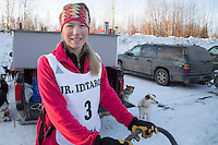 Mariana Malloary At the start of the 2016 Junior Iditarod Sled Dog Race on Willow Lake  in Willow, AK February 27, 2016