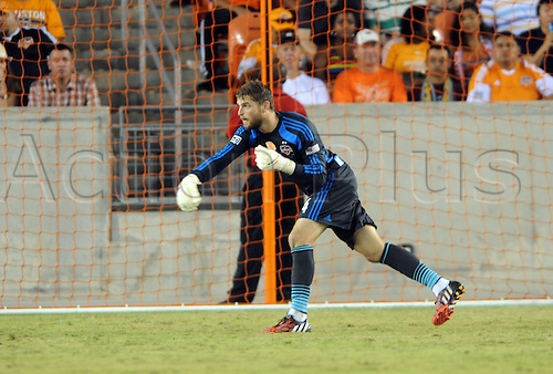 26.07.2014. Houston, Texas, USA.  Houston Dynmao  goalie Tyler Deric during Houstons 1 - 0 loss to Aston Villa at BBVA Compass Stadium in Houston, TX.