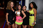 HOLLYWOOD, FL - NOVEMBER 13: Monica Olimpiew, Guest,  Dunia Gullen and Deeca Simmonds attend Urban Mystic performing live with a Bigg D. live band at Hollywood Live at Hollywood Live on Thursday November 13, 2014 in Coral Gables, Florida. (Photo by Johnny Louis/jlnphotography.com)