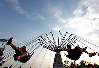 "Patrons ride ""Musical Chairs"" during the SEMO District Fair on Wednesday, Sept. 15, 2010 in Cape Girardeau, Missouri."