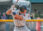 31 July 2016: Connecticut Tigers designated hitter Brady Policelli in action against the Vermont Lake Monsters at Centennial Field in Burlington, Vermont. The Lake Monsters edged out the Tigers 4-3 in NY Penn League action.  Mandatory Credit: Ed Wolfstein Photo *** RAW (NEF) Image File Available ***