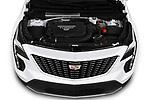 Car stock 2020 Cadillac XT4 Premium Luxury 5 Door SUV engine high angle detail view