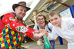 Pix: Shaun Flannery/shaunflanneryphotography.com...COPYRIGHT PICTURE>>SHAUN FLANNERY>01302-570814>>07778315553>>..19th March 2011...............Lakeside Village, Doncaster..Comic Relief Event..Jay Robinson of Intake with Silly Billy and Michelle.