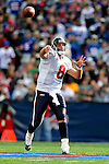 1 November 2009: Houston Texans' quarterback Matt Schaub throws for a 37 yard gain in the third quarter against the Buffalo Bills at Ralph Wilson Stadium in Orchard Park, New York, United States of America. The Texans defeated the Bills 31-10. Mandatory Credit: Ed Wolfstein Photo