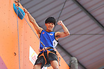 Kokoro Fuji (JPN), <br /> AUGUST 25, 2018 - Sport Climbing : <br /> Men's Combined Qualification Lead <br /> at Jakabaring Sport Center Sport Climbing <br /> during the 2018 Jakarta Palembang Asian Games <br /> in Palembang, Indonesia. <br /> (Photo by Yohei Osada/AFLO SPORT)