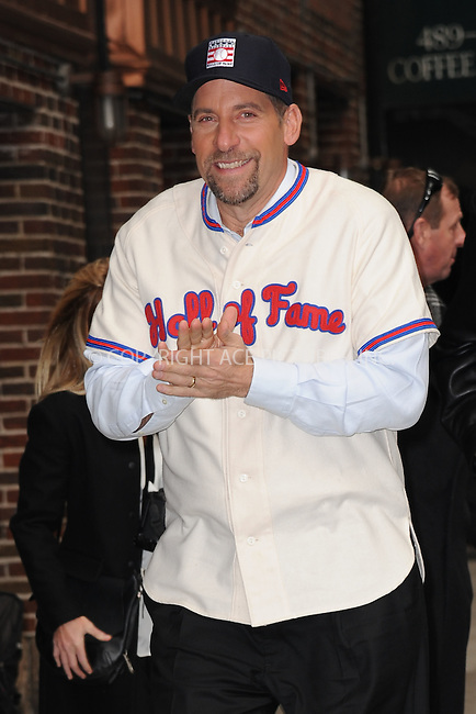WWW.ACEPIXS.COM . . . . . <br /> January 7, 2014...New York City<br /> <br /> John Smoltz arrives to tape an appearance on the Late Show with David Letterman on January 7, 2015 in New York City.<br /> <br /> Please byline: Kristin Callahan...ACEPIXS.COM<br /> Tel: (212) 243 8787 or (646) 769 0430<br /> e-mail: info@acepixs.com<br /> web: http://www.acepixs.com