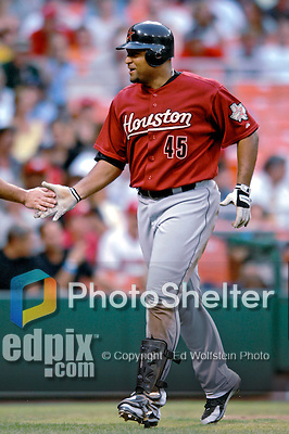 17 July 2007: Houston Astros outfielder Carlos Lee walks back to the dugout after hitting a home run against the Washington Nationals at RFK Stadium in Washington, DC. The Astros defeated the Nationals 4-2 in the second game of their 3-game series...Mandatory Photo Credit: Ed Wolfstein Photo
