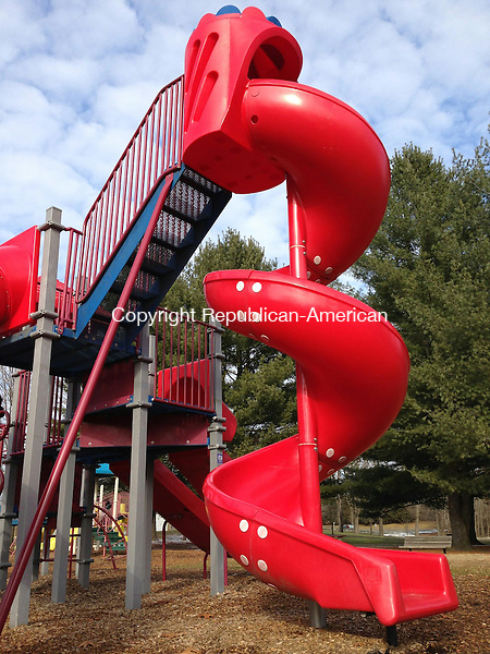 WOODBURY, CT - 27 Dec 2013 - 122713RH01 - The plaground in Hollow Park in Woodbury is just one of the town's facilities and programs that will be scrutinized in a planned needs assessment. Rick Harrison Republican-American
