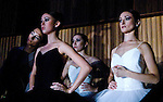 "English National Ballet. Royal Festival Hall season. Triple Bill ""Festival Ballet"". Dancers watching from the wings."