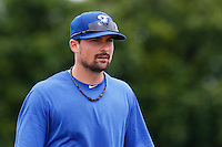 19 September 2012: France Florian Peyrichou is seen prior to Team France friendly game won 6-3 against Palm Beach State College, during the 2012 World Baseball Classic Qualifier round, in Lake Worth, Florida, USA.