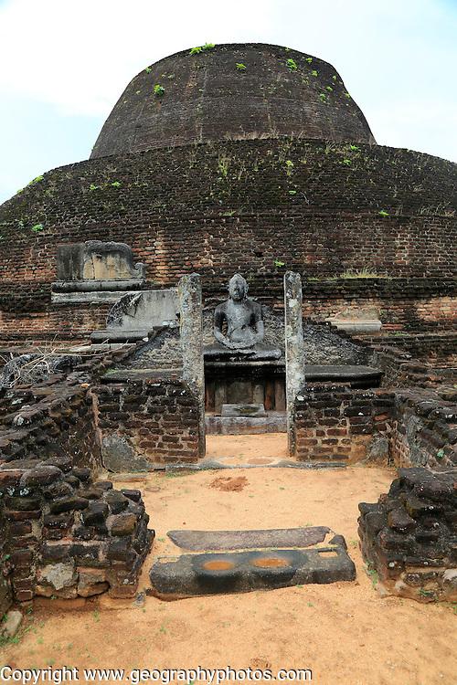 Pabula Vihara temple, UNESCO World Heritage Site, the ancient city of Polonnaruwa, Sri Lanka, Asia
