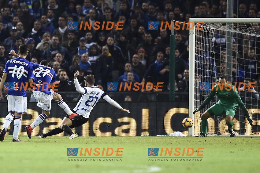 Genova 30-10-2016 - Football campionato di calcio serie A / Sampdoria - Inter / foto Image Sport/Insidefoto<br />  gol Fabio Quagliarella Goal celebration