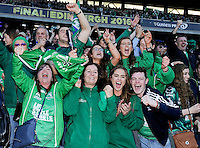 28/05/2016;Guinness Pro12 Final<br /> Connacht fans celebrate.<br /> Photo Credit: actionshots.ie/Tommy Grealy
