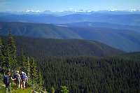 Wells Gray Provincial Park, British Columbia, Canada, August 2006. The Trophy mountains have numerous lakes and the Eagles pass is one of the highlights.  Trekking the backcountry of Wells Gray requires expert outdoor skills or a good guide, as one will enter a wilderness area with mountains, lakes and forests. Photo by Frits Meyst/Adventure4ever.com