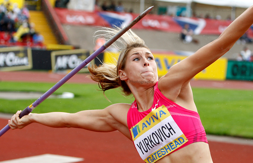 Photo: Richard Lane/Richard Lane Photography..Aviva British Grand Prix. 31/08/2009. USA's Rachel Yurkovich in the women's javelin.