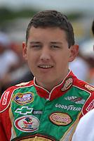 May 4, 2007; Richmond, VA, USA; Nascar Busch Series driver Brad Coleman (18) during qualifying for the Circuit City 250 at Richmond International Raceway. Mandatory Credit: Mark J. Rebilas