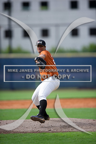 Juan Carlos Santos #25 during the Team One South Showcase presented by Baseball Factory at Chappell Park on July 14, 2012 in Atlanta, Georgia.  (Copyright Mike Janes Photography)