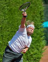 Netherlands, Amstelveen, August 23, 2015, Tennis,  National Veteran Championships, NVK, TV de Kegel,  Final men's 40+, Taavi Suorsa<br /> Photo: Tennisimages/Henk Koster
