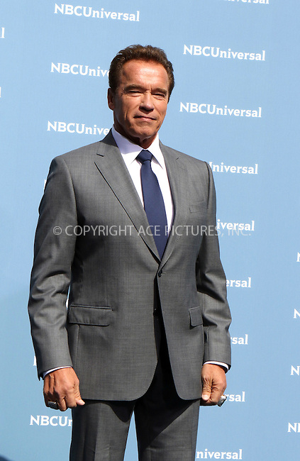 WWW.ACEPIXS.COM<br /> <br /> May 16 2016, New York City<br /> <br /> Arnold Schwarzenegger arriving at the 2016 NBC Univeral Upfront at Radio City Music Hall on May 16, 2016 in New York City.<br /> <br /> By Line: Nancy Rivera/ACE Pictures<br /> <br /> <br /> ACE Pictures, Inc.<br /> tel: 646 769 0430<br /> Email: info@acepixs.com<br /> www.acepixs.com