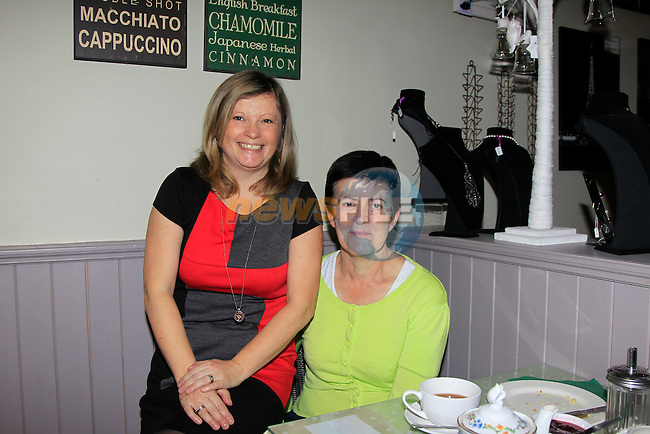 Lynda Callaghan &amp; Ann Callaghan during the Coffee morning for Mount Hanovar school at the Sage &amp; Stone on Thursday 20th November 2014.<br /> Picture:  Thos Caffrey / www.newsfile.ie