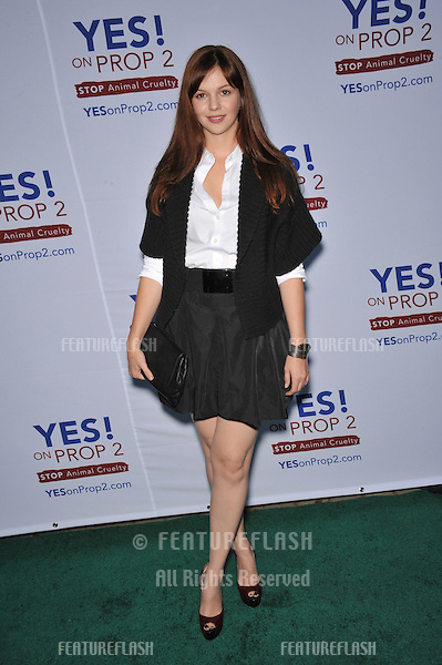 Amber Tamblyn at a celebrity gala in Beverly Hills to support Yes! on Prop 2 campaign, to provde support for the California ballot measure to stop cruel and inhumane treatment of farm animals..September 28, 2008  Los Angeles, CA.Picture: Paul Smith / Featureflash