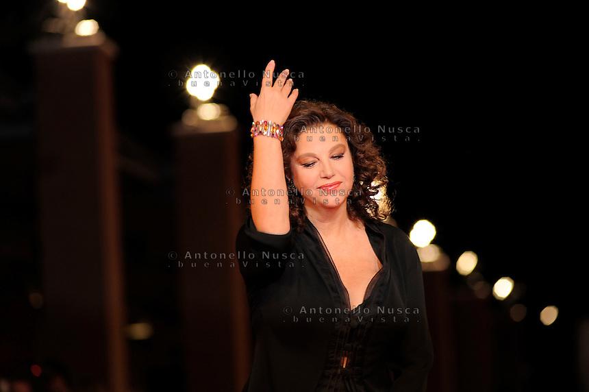 Roma, 19 Ottobre, 2009. Stefania Sandrelli durante il red carpet per il film Cristine