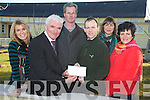 Tom Murpohy, Beaufort Gun Club, pictured as he presented a cheque for EUR500 to Bertie O'Connor, principal of Cullina NAtional School, Beaufort on Tuesday. Also pictured are Moira Cronin, John O'Connor, Karen Lucey and Siobhan O'Shea.