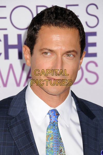 Sasha Roiz.People's Choice Awards 2013 - Arrivals held at Nokia Theatre L.A. Live, Los Angeles, California, USA..January 9th, 2013.headshot portrait white blue tie green check .CAP/ADM/BP.©Byron Purvis/AdMedia/Capital Pictures.