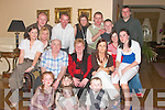 John and Eileen Breen from Listowel, seated third and fourth from left celebrated their 40th Wedding Anniversary in The Listowel Arms Hotel on Saturday night with family and friends.  Pictured front l-r. Eva, Flynn, Saoirse Galvin, Haley Haley and Dylan Flynn.  Seated l-r. Mary Flynn, Catherine Galvin, John and Eileen Breen, Elaine Breen and her sister-in-law Elaine Breen and Megan Galvin.  Back l-r Dermot Breen, Dave Flynn, Lisa, Johnny and Chris Breen with Jim Galvin.  ..   Copyright Kerry's Eye 2008