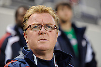 New England Revolution head coach Steve Nicol. The New York Red Bulls defeated the New England Revolution 3-0 during a U. S. Open Cup qualifier round match at Red Bull Arena in Harrison, NJ, on May 12, 2010.