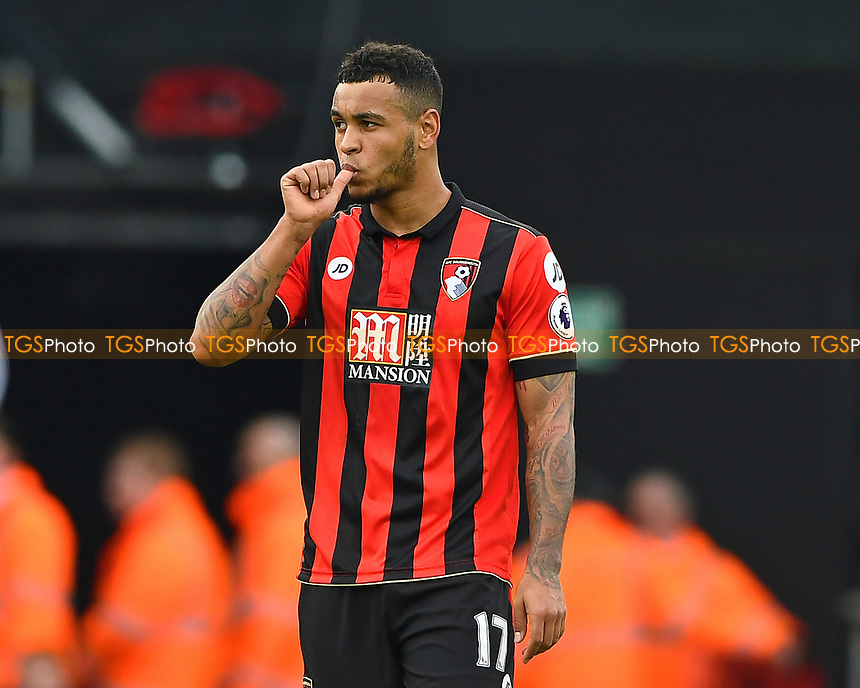 Joshua King of AFC Bournemouth celebrates his goal during AFC Bournemouth vs West Ham United, Premier League Football at the Vitality Stadium on 11th March 2017