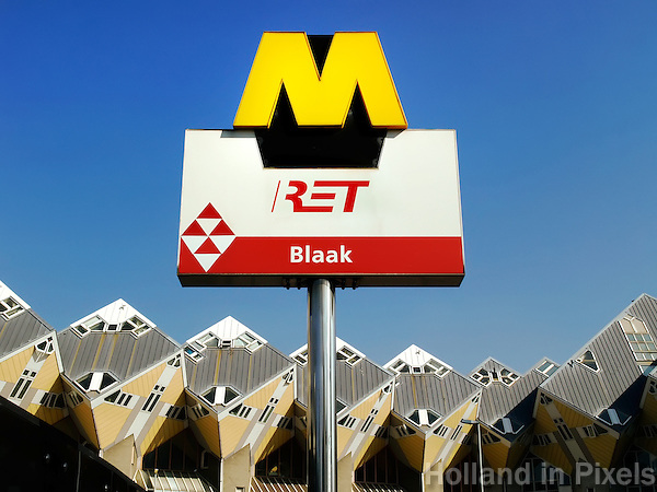 Metrohalte Blaak in Rotterdam