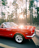 USA, Arizona, couple on a road trip in a mustang convertible, Route 66