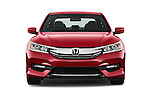 Car photography straight front view of a 2016 Honda Accord Sport 4 Door Sedan Front View