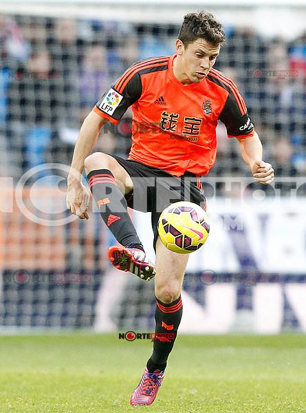 Real Sociedad's Gorka Elustondo during La Liga match.January 31,2015. (ALTERPHOTOS/Acero) /NortePhoto<br /> /NortePhoto.com