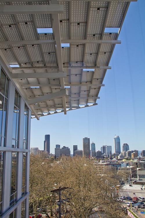 Seattle, The Bullitt Center, greenest office building in world, The Bullitt Foundation, Capitol Hill neighborhood, Pacific Northwest, Washington State, USA,