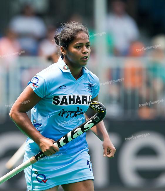 03/07/2015<br /> HWL Semi Final Antwerp Belgium 2015<br /> Japan v India Women<br /> Deepika Deepika<br /> Photo: Grant Treeby